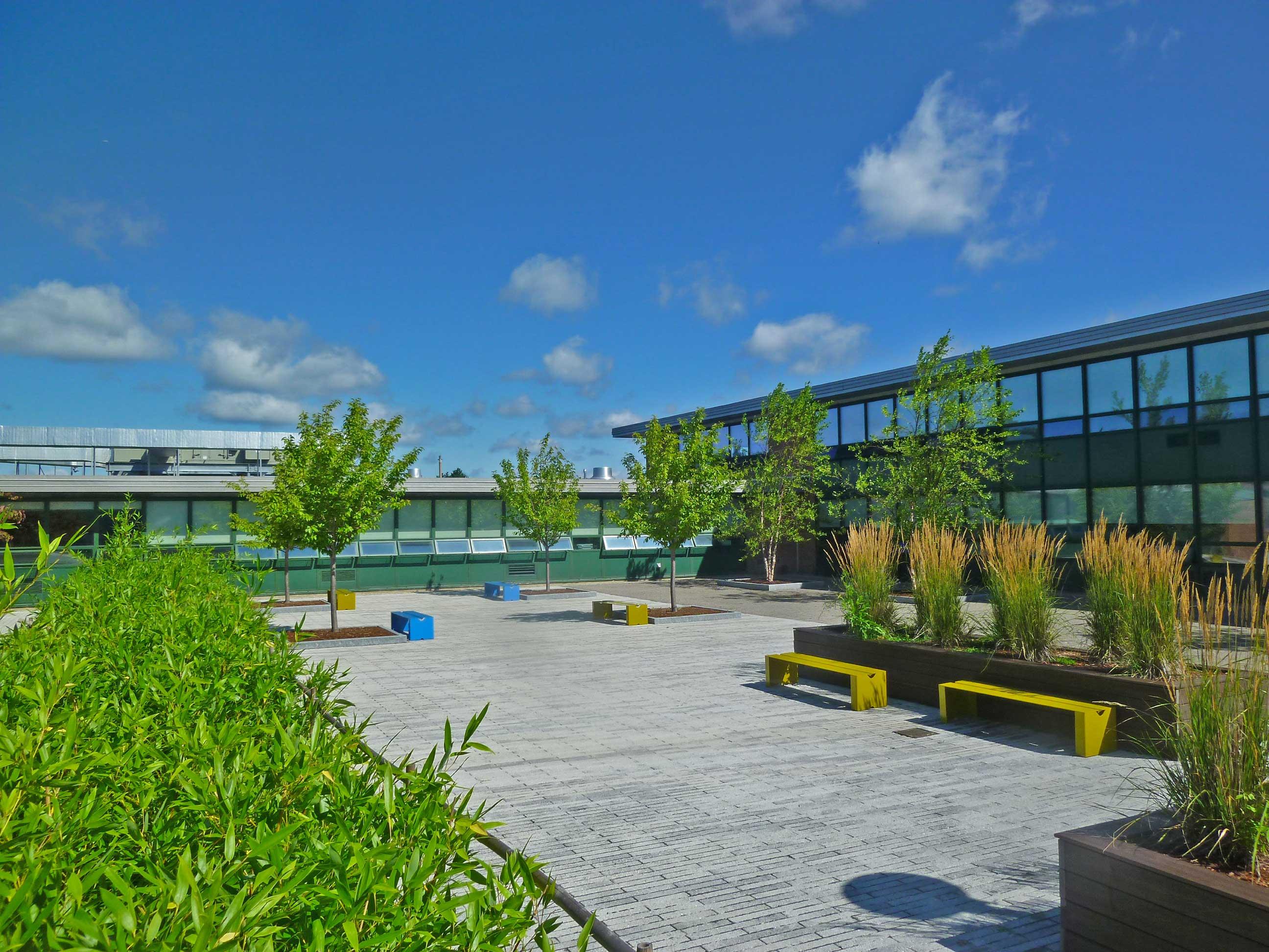 Marshall Simonds Middle School Courtyard