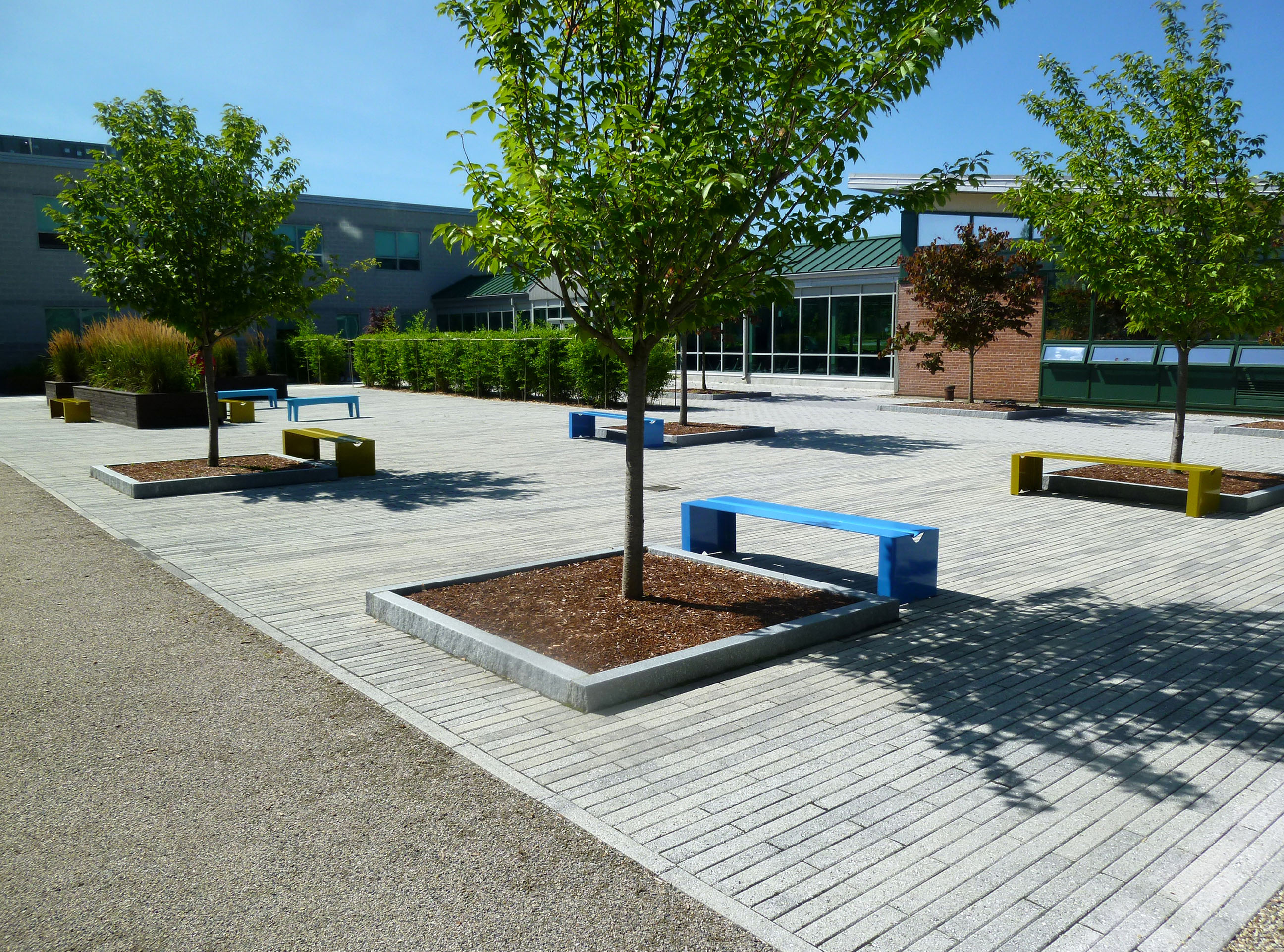 Marshall Simonds Middle School Courtyard