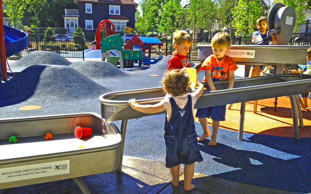 Billings Playground Water Table Play