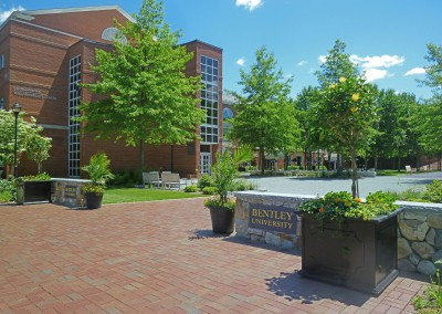 Bentley University Campus Entry Plaza