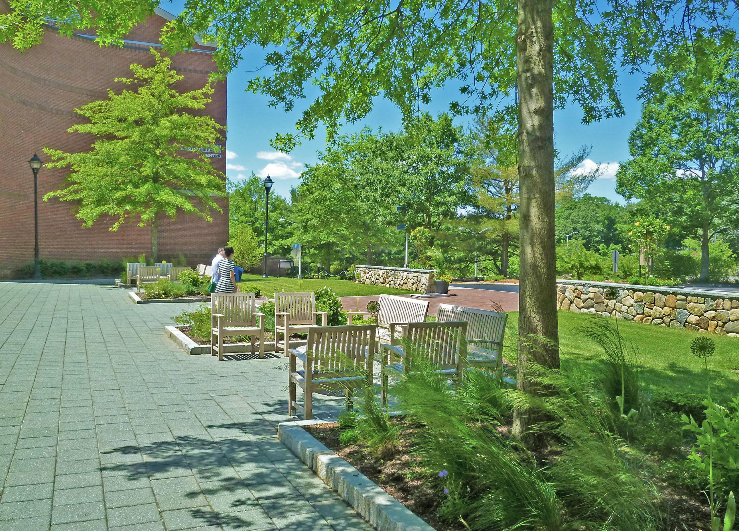 Bentley University Campus Entry Plaza