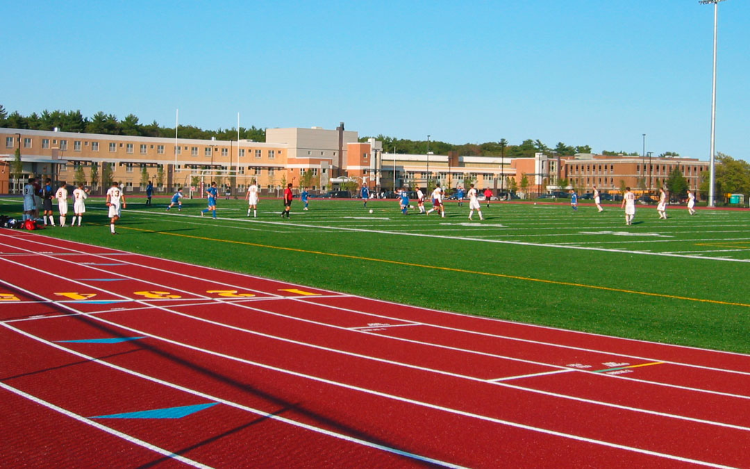 4Weymouth-High School-Master Plan-Track and field-Game with players